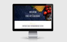 webdesign voorbeeld restaurant