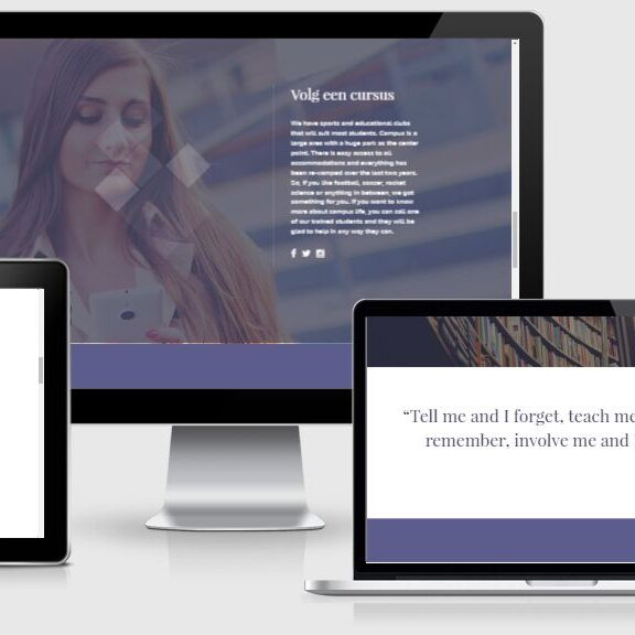 WordPress webdesign voorbeeld template