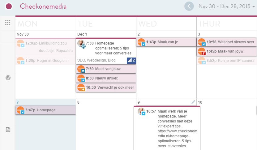 CoSchedule content en social media planning