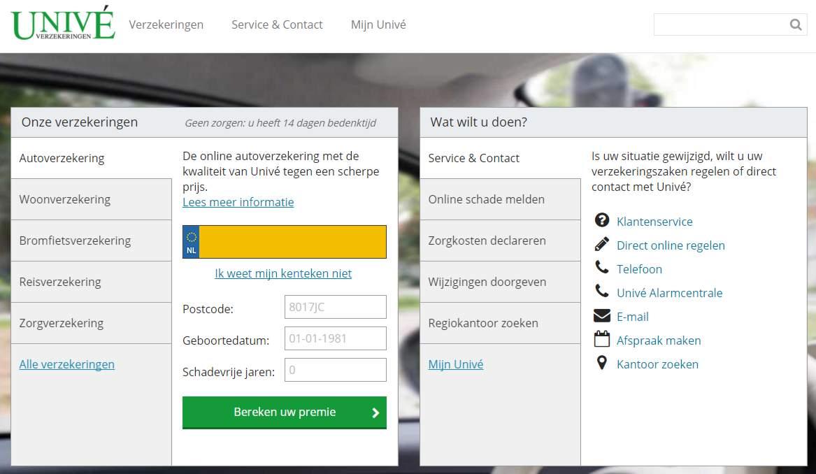 Duidelijke Call To Action op een homepage