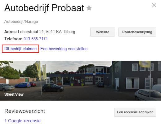 Start met lokale zoekmachineoptimalisatie door je bedrijf te claimen in Google Mijn Bedrijf.