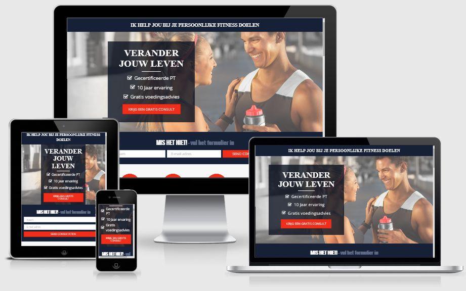 Voorbeeld webdesign personal trainer