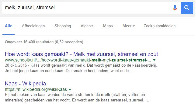 Semantic search zorgt dat Google verbanden kan leggen tussen zoekwoorden, de intentie van de zoeker en de inhoud van een pagina of website.