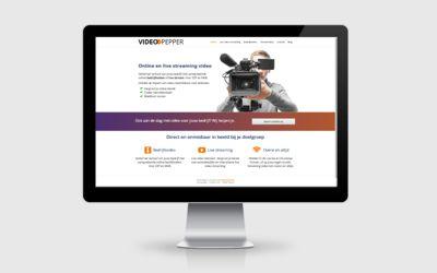 Webdesign voorbeeld VideoPepper
