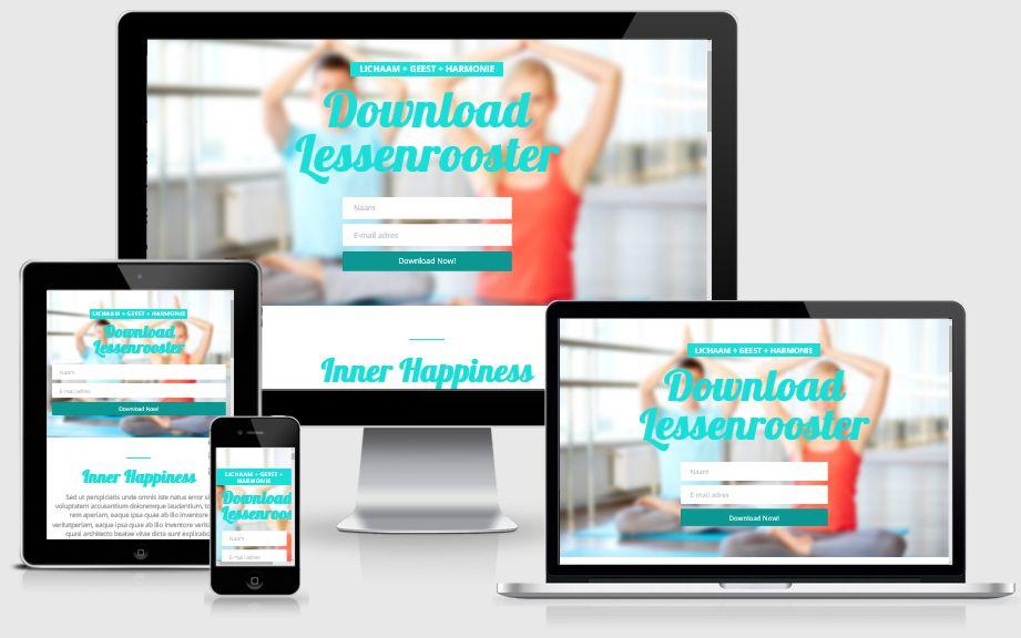 Webdesign voorbeeld yoga leraar